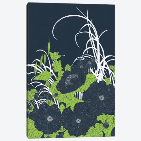 Midnight Flowers Canvas Print #TRC38} by Tracie Andrews Canvas Print