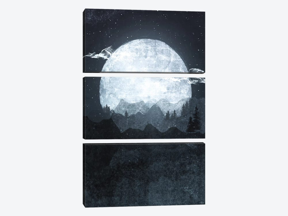 Moonrise by Tracie Andrews 3-piece Canvas Wall Art