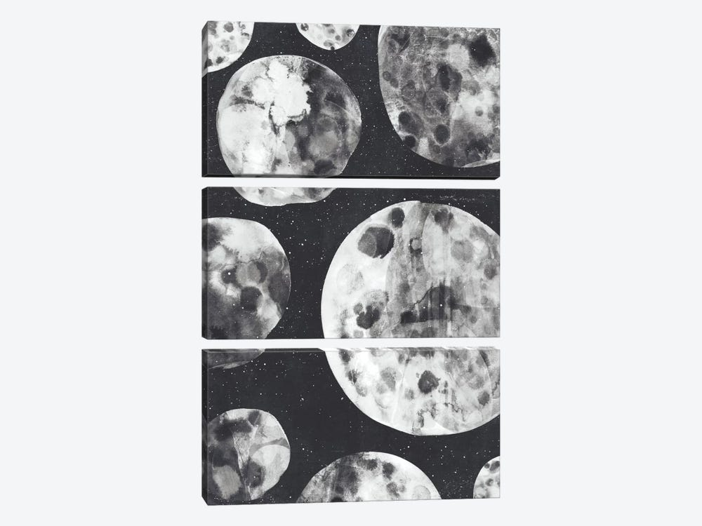 Moons by Tracie Andrews 3-piece Canvas Art