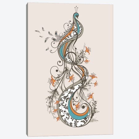 Peacock Canvas Print #TRC42} by Tracie Andrews Canvas Artwork