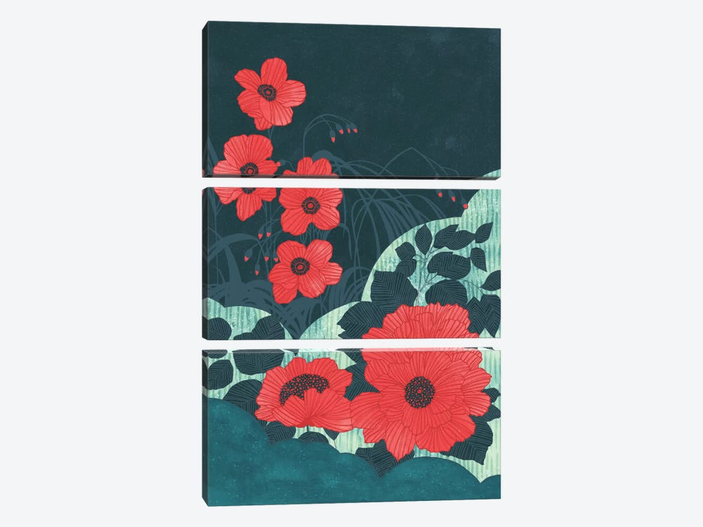 Ruby by Tracie Andrews 3-piece Canvas Artwork