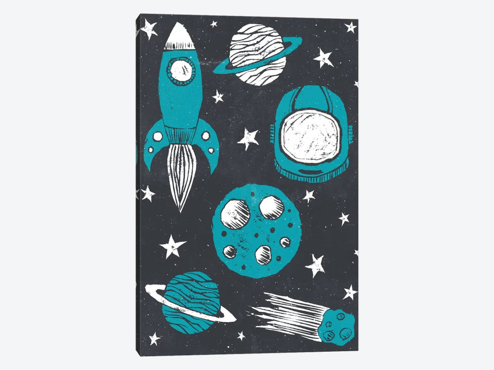 Space Age by Tracie Andrews 1-piece Canvas Wall Art