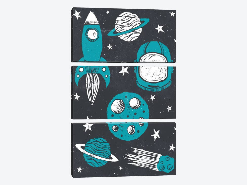 Space Age by Tracie Andrews 3-piece Canvas Art