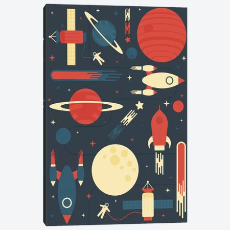 Space Odyssey Canvas Print #TRC54} by Tracie Andrews Canvas Wall Art