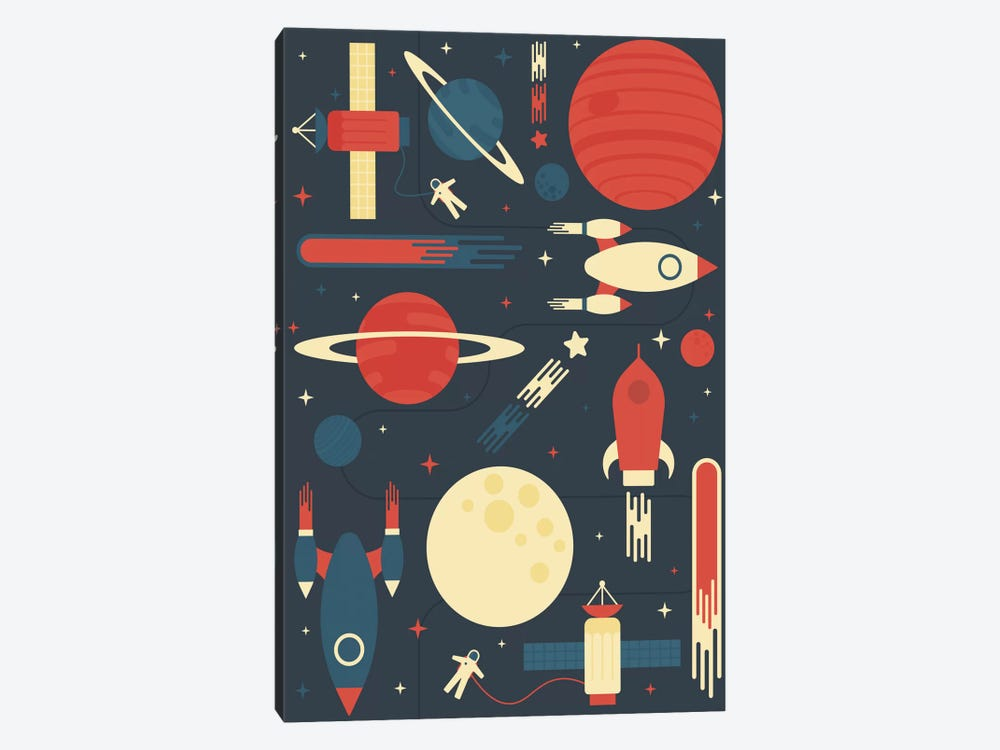 Space Odyssey by Tracie Andrews 1-piece Canvas Art Print