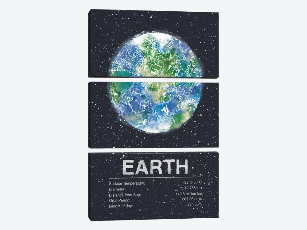 Earth by Tracie Andrews 3-piece Canvas Artwork