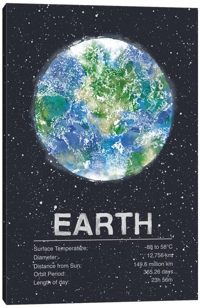 Earth Canvas Art Print