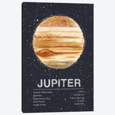 Jupiter Canvas Print #TRC60} by Tracie Andrews Canvas Artwork