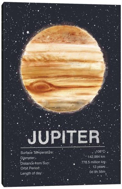 The Planets Series: Jupiter Canvas Print #TRC60
