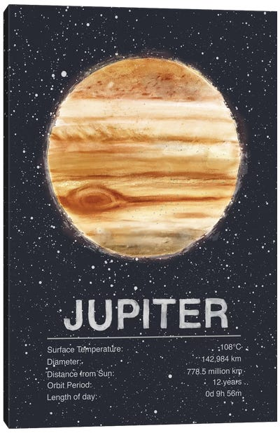Jupiter by Tracie Andrews Canvas Art Print