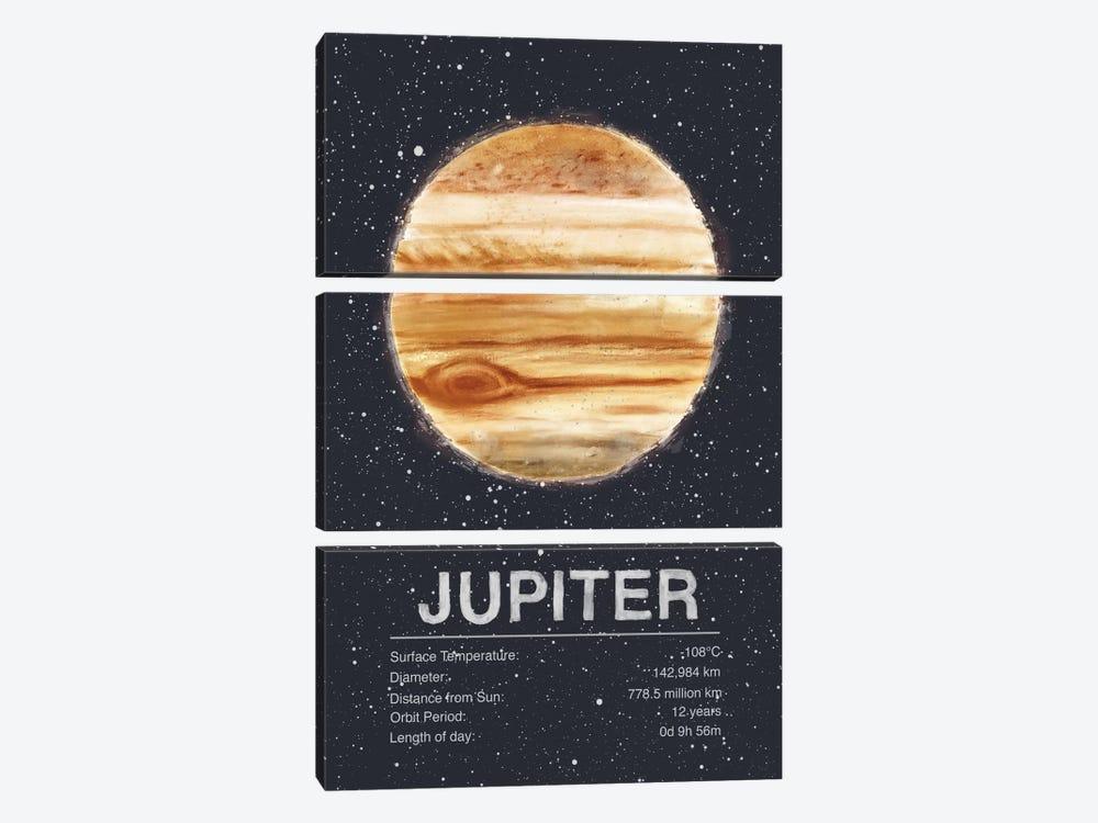 Jupiter by Tracie Andrews 3-piece Canvas Artwork