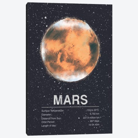 Mars Canvas Print #TRC61} by Tracie Andrews Canvas Artwork