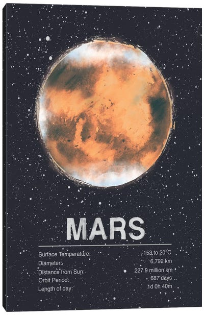The Planets Series: Mars Canvas Print #TRC61