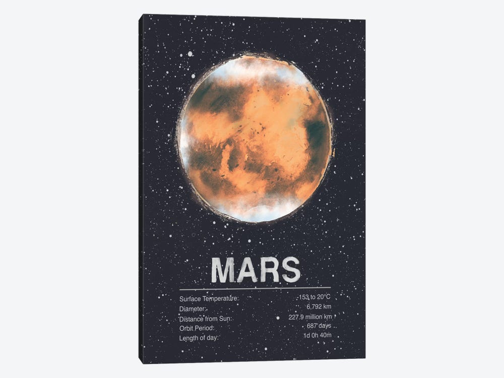 Mars by Tracie Andrews 1-piece Art Print