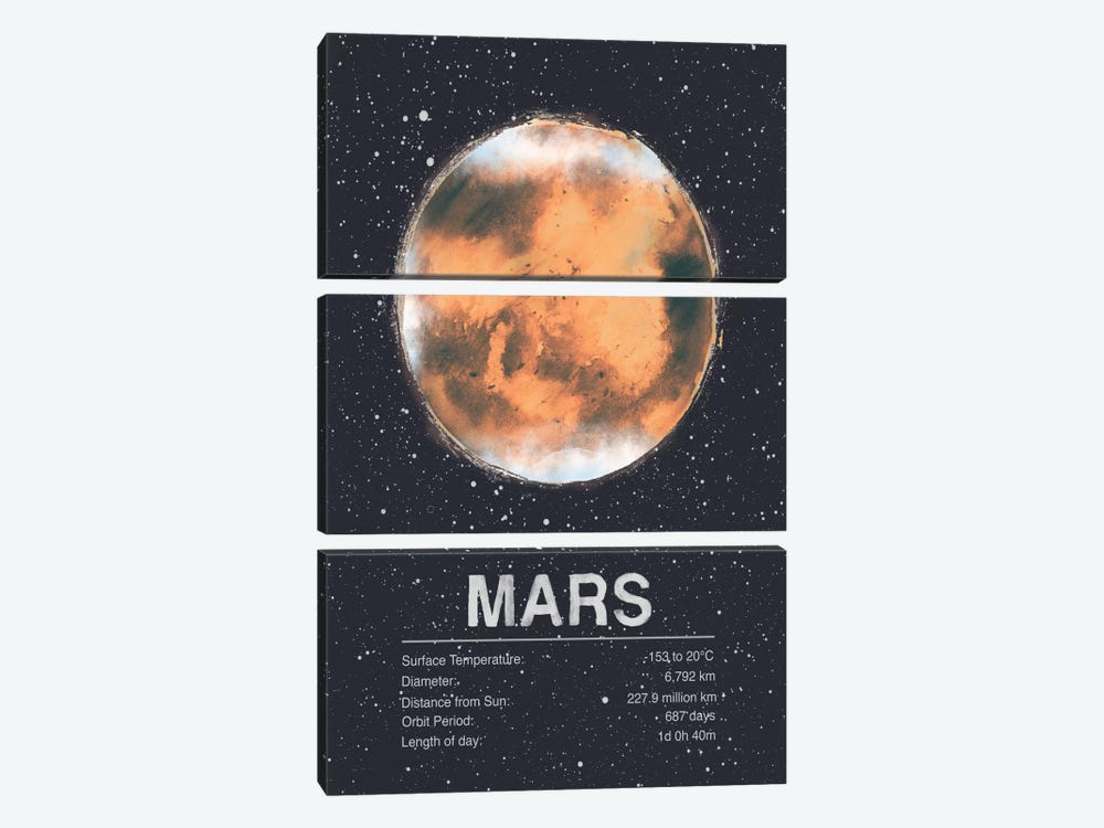 Mars by Tracie Andrews 3-piece Art Print