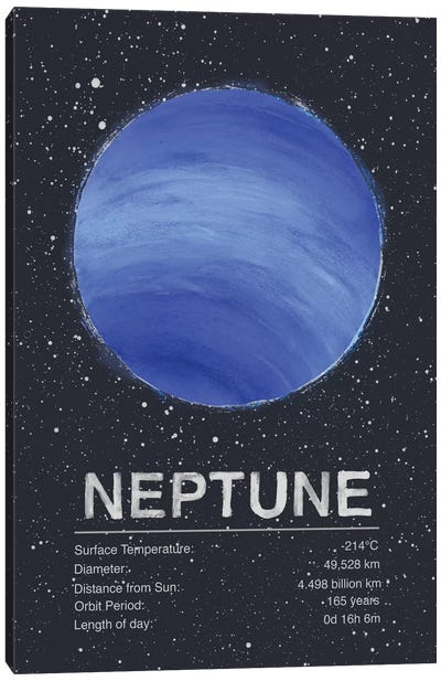 Neptune by Tracie Andrews Canvas Art Print