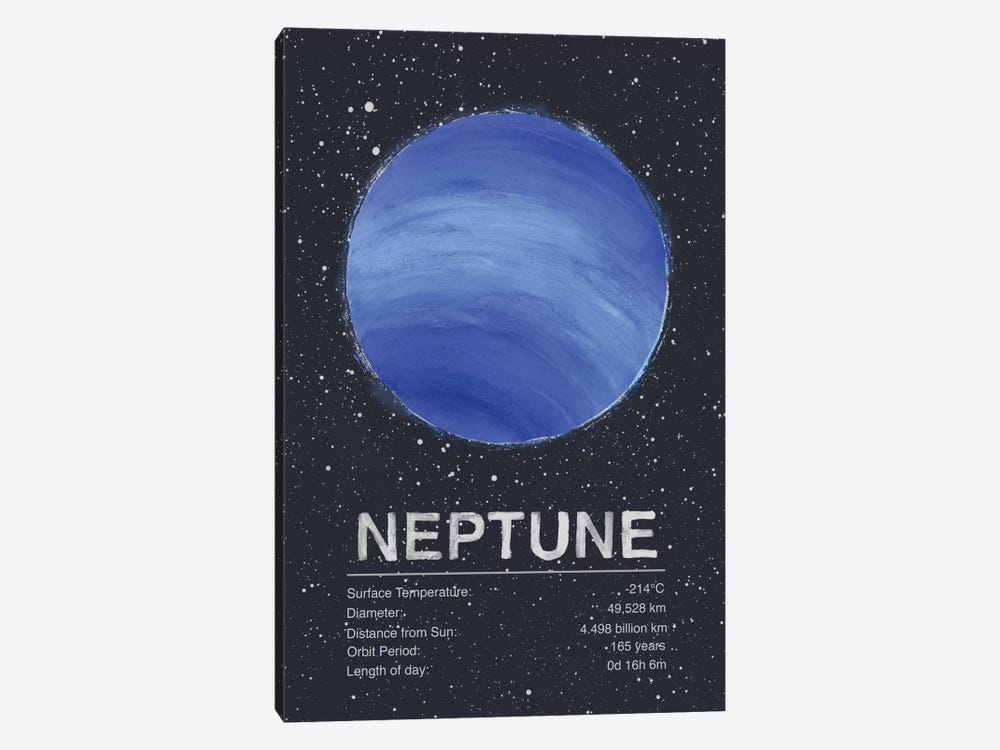 Neptune by Tracie Andrews 1-piece Canvas Print