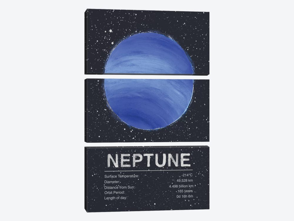 Neptune 3-piece Canvas Art Print