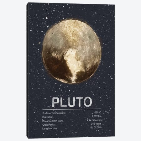 Pluto Canvas Print #TRC64} by Tracie Andrews Canvas Print