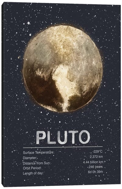 Pluto Canvas Art Print