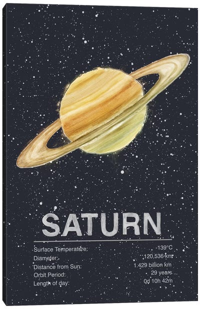 The Planets Series: Saturn Canvas Print #TRC65