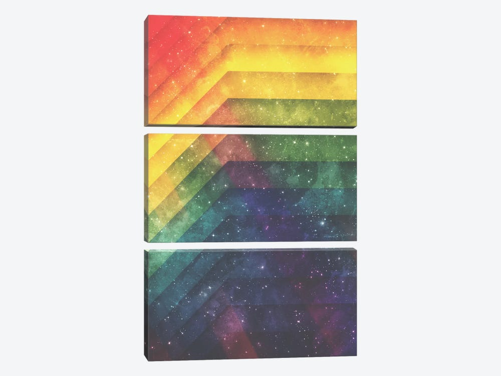 Time And Space by Tracie Andrews 3-piece Art Print