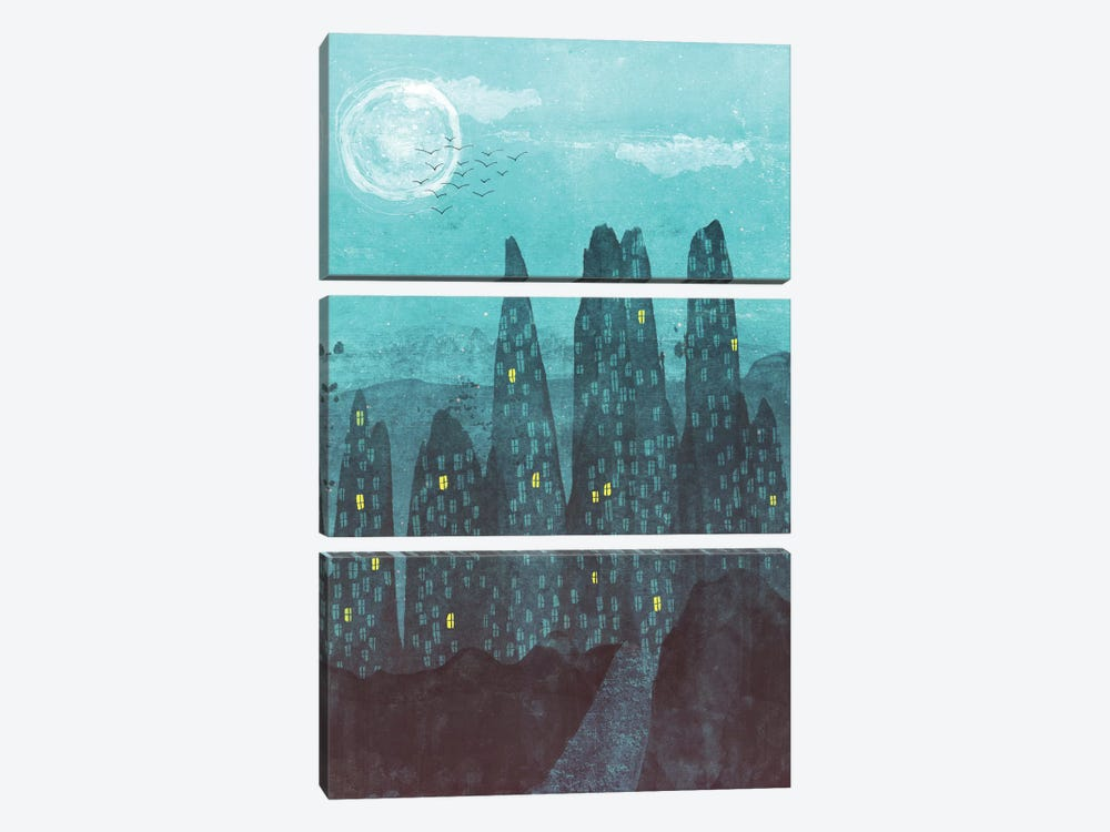 To The City by Tracie Andrews 3-piece Art Print