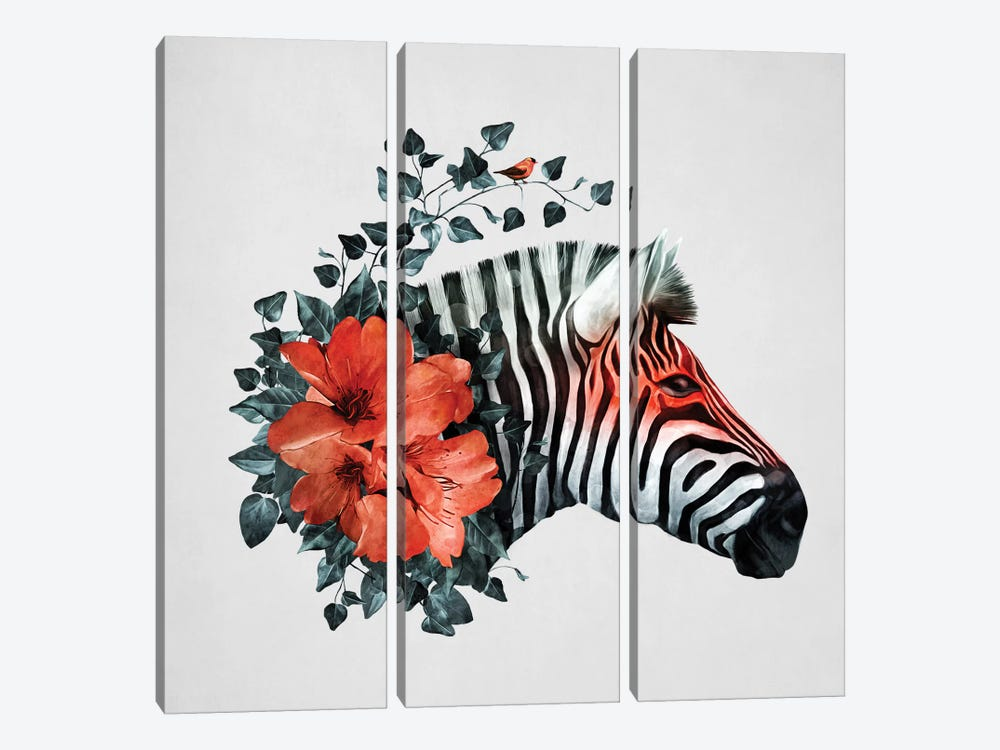 Untamed by Tracie Andrews 3-piece Canvas Print