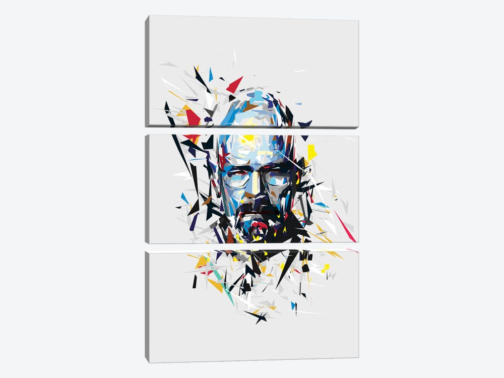 Walter White by Tracie Andrews 3-piece Canvas Art