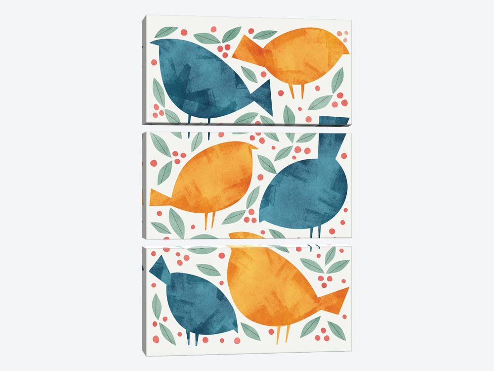 Birds by Tracie Andrews 3-piece Canvas Artwork