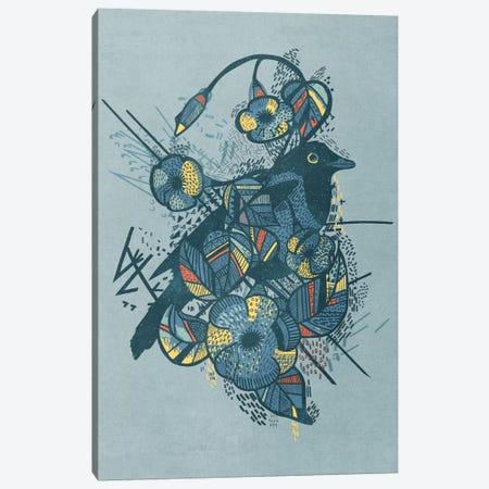 Blue Bird Canvas Print #TRC8} by Tracie Andrews Canvas Artwork