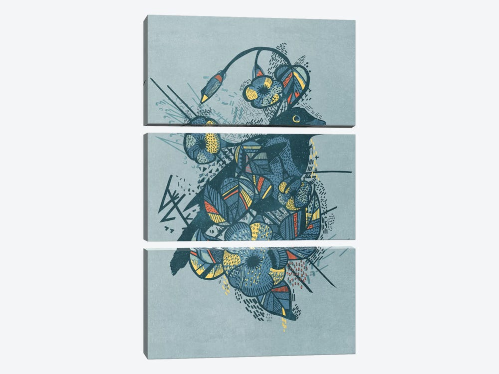 Blue Bird by Tracie Andrews 3-piece Canvas Artwork