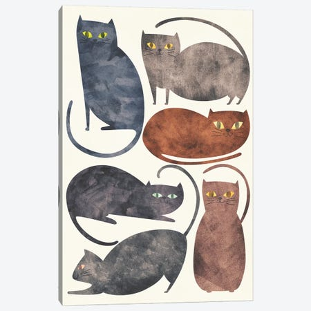 Cats 3-Piece Canvas #TRC90} by Tracie Andrews Canvas Art Print
