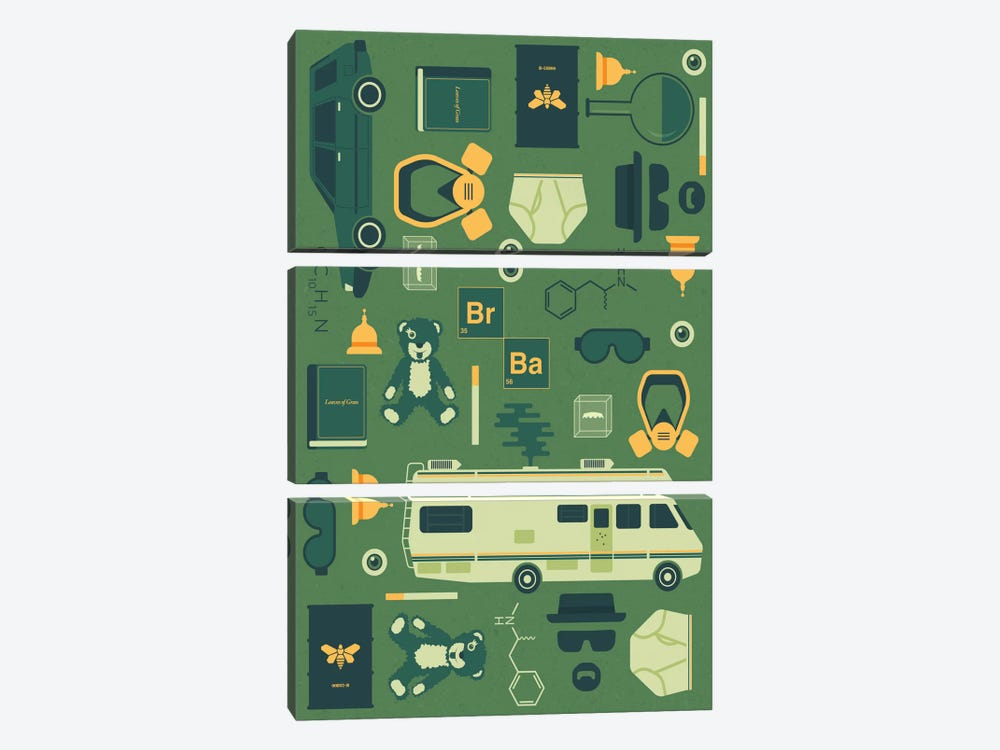 Breaking Bad by Tracie Andrews 3-piece Canvas Art Print