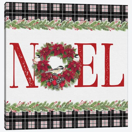 Chickadee Christmas Red III - Noel Canvas Print #TRE101} by Tara Reed Canvas Print