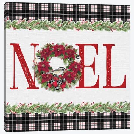 Chickadee Christmas Red III - Noel Canvas Print #TRE101} by Tara Reed Canvas Print