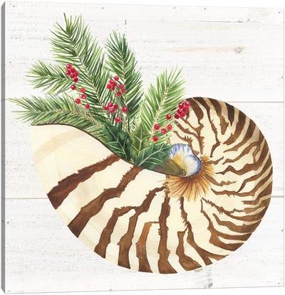 Christmas By The Sea Nautilus Canvas Art Print