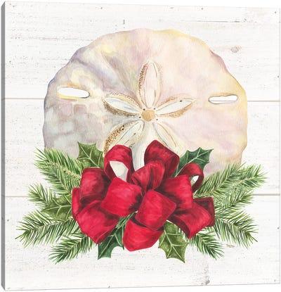 Christmas By The Sea Sanddollar Canvas Art Print
