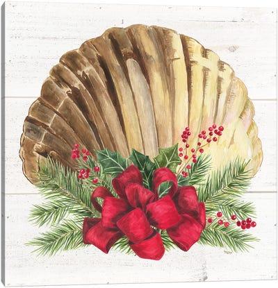 Christmas By The Sea Scallo Canvas Art Print