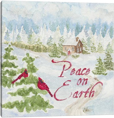 Christmas In The Country III Peace on Earth Canvas Art Print
