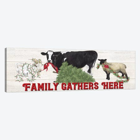 Christmas On The Farm - Family Gathers Here Canvas Print #TRE116} by Tara Reed Canvas Print