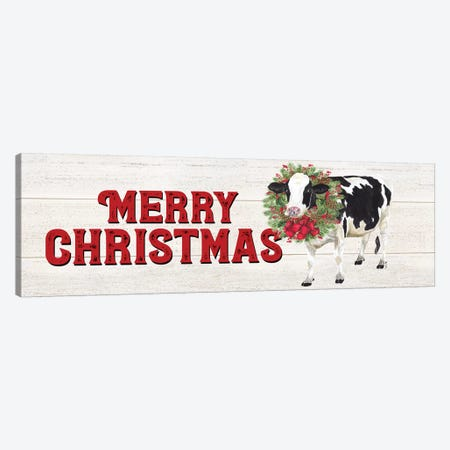 Christmas On The Farm - Merry Christmas Canvas Print #TRE117} by Tara Reed Canvas Art Print