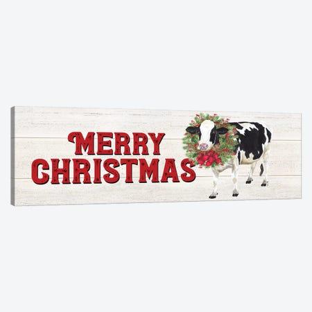 Christmas On The Farm - Merry Christmas Canvas Print #TRE117} by Tara Reed Canvas Art Print