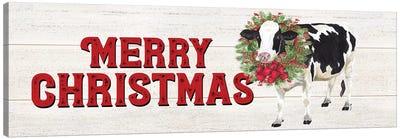 Christmas On The Farm - Merry Christmas Canvas Art Print