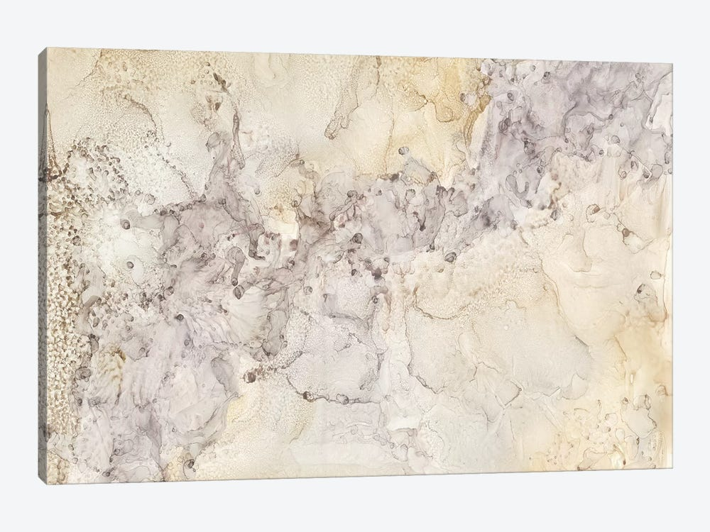 Gold & Silver Mineral Abstract by Tara Reed 1-piece Canvas Wall Art