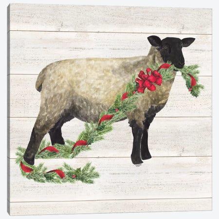 Christmas On The Farm V - Sheep Canvas Print #TRE123} by Tara Reed Art Print