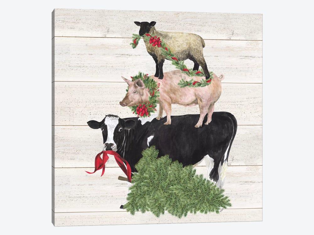 Christmas On The Farm VI - Trio Facing Left by Tara Reed 1-piece Art Print