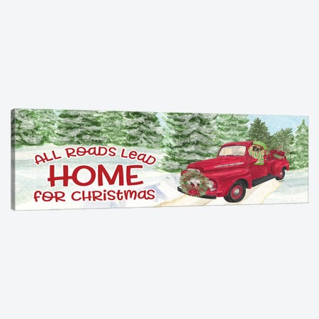Dog Days Of Christmas - Roads Lead Home Canvas Print #TRE127} by Tara Reed Canvas Artwork
