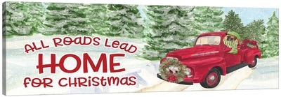 Dog Days Of Christmas - Roads Lead Home Canvas Art Print