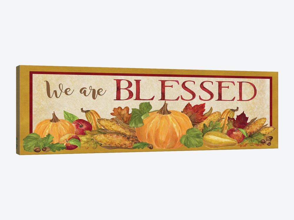 Fall Harvest We are Blessed Sign by Tara Reed 1-piece Canvas Print